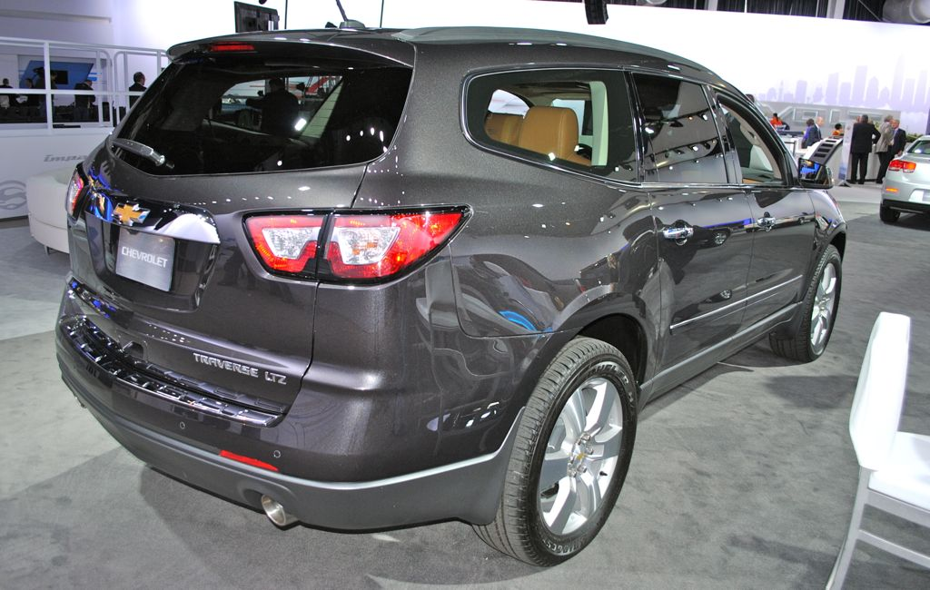 2012 new york 2013 chevrolet traverse rear side angle. Cars Review. Best American Auto & Cars Review