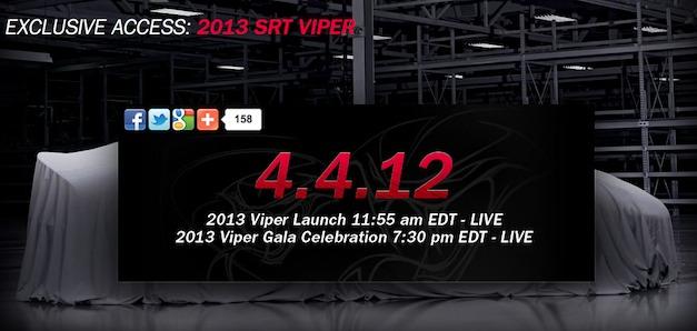 2013 SRT Viper Live Debut