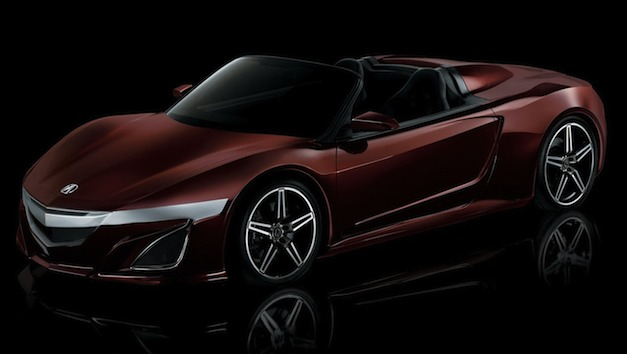 Photo of Tony Stark's Acura NSX Convertible Concept officially released