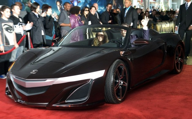 Robert Downey Jr. arrives in Acura NSX Convertible to Avengers Hollywood premiere