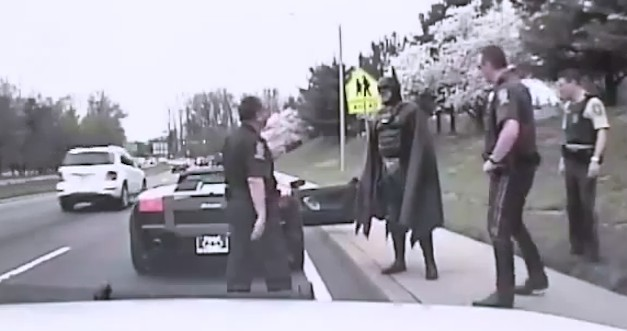 Batman pulled over by police