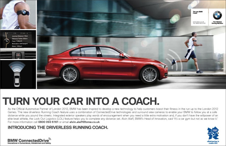 BMW becomes driverless coach