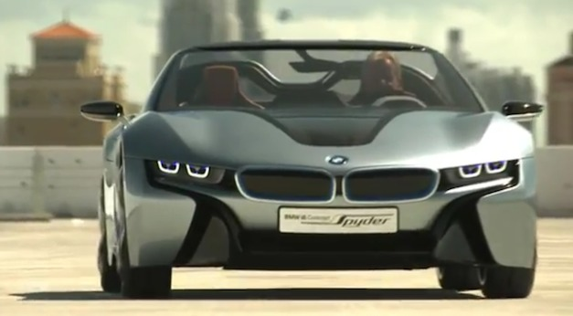 Videos: BMW i8 Spyder Concept in Action