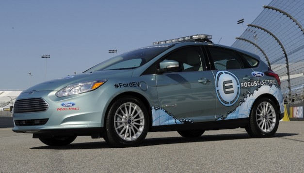 Ford releases of Focus Electric NASCAR pace car photos