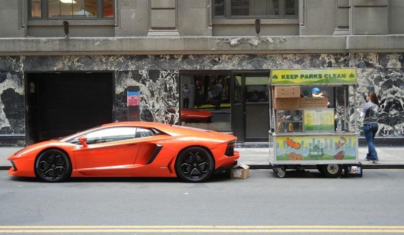 Lamborghini Aventador hot dog cart