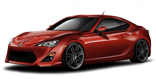 scionfrsfiveaxis1 627x318 Five Axis Design released body kit for 2013 Scion FR S