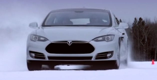 teslamodelssnow Video: This is how the Tesla Model S performs in cold weather