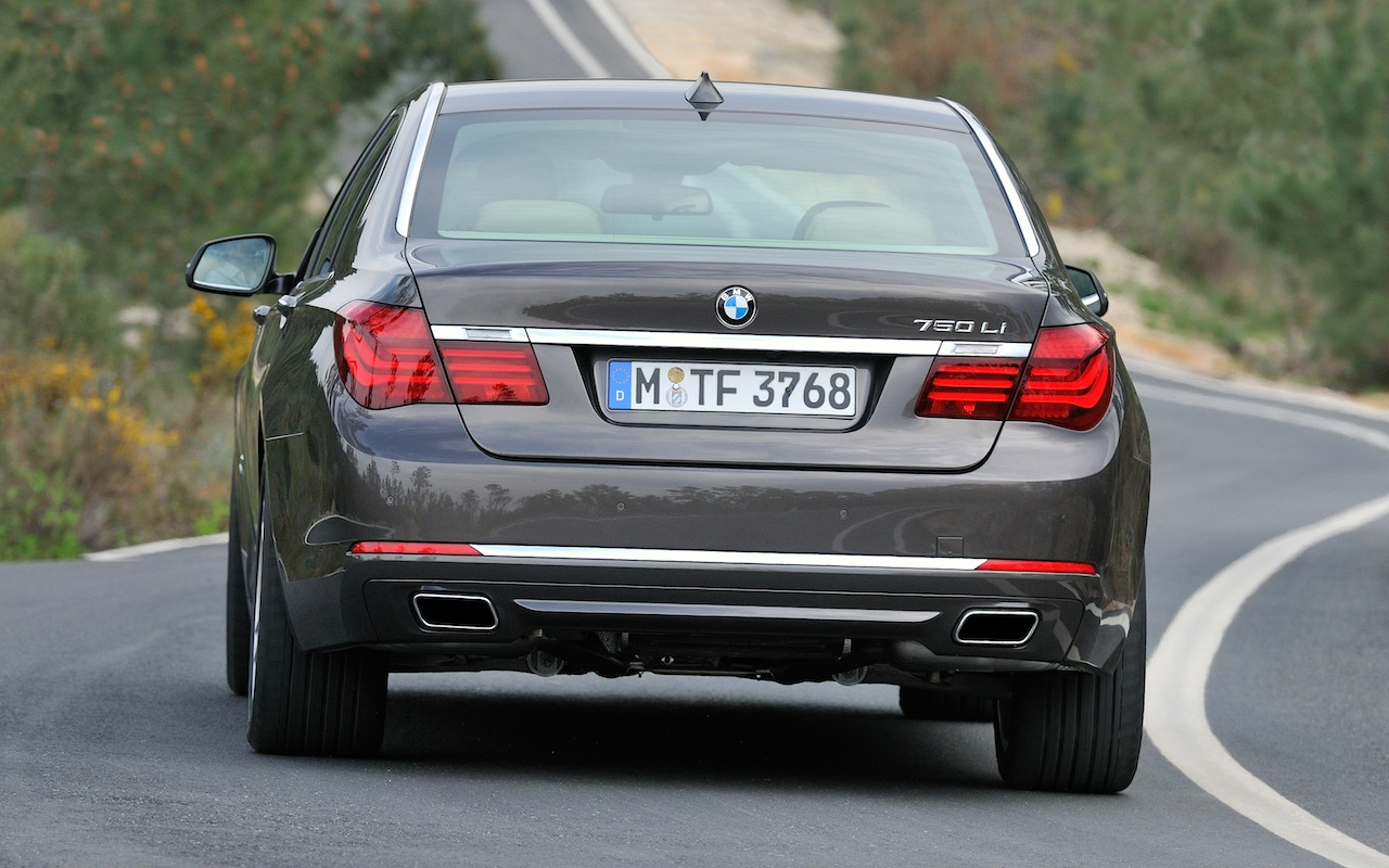 2013 BMW 750 Li Rear Angle