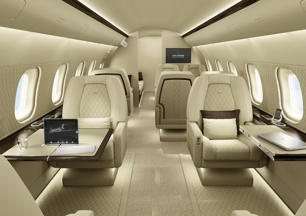 Brabus Aviation Custom Bombardier Custom Interior - egmCarTech