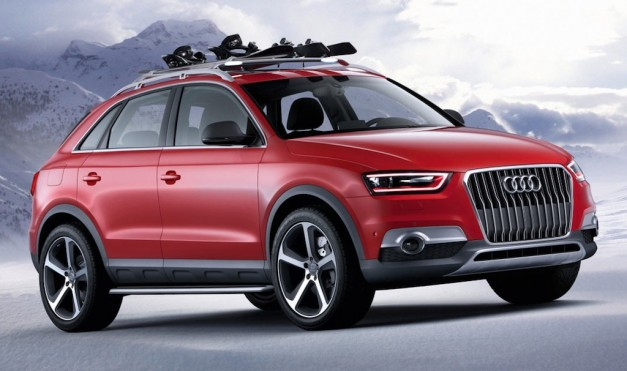 Audi Q3 red track