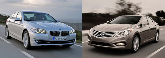 BMW 5-Series - Hyundai Azera