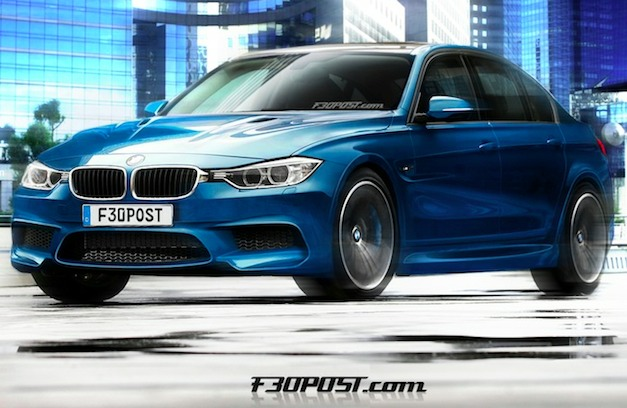 bmwm3renderingf30post Report: Next gen BMW M3 concept to show at Geneva, Gran Coupe variant, forced induced I6, no manual option