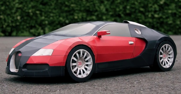 video how to make a paper bugatti veyron using 44 pages egmcartech. Black Bedroom Furniture Sets. Home Design Ideas