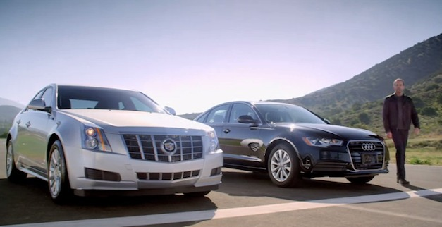 video caddy admits audi a6 is faster than cadillac cts. Black Bedroom Furniture Sets. Home Design Ideas