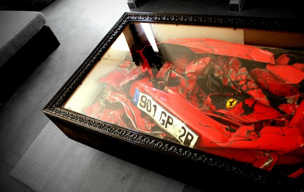 Charly Molinelli Design Wrecked Ferrari Table