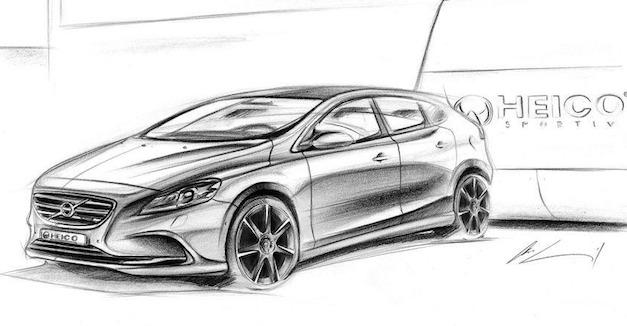 Volvo V40 Heico Sketch