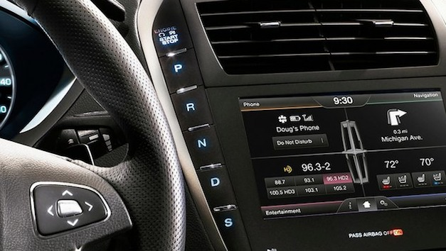 Lincoln reimagines the gear shifter with the new 2013 MKZ