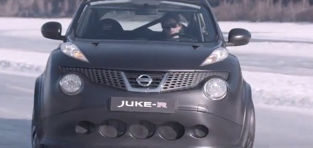 Video: Nissan Juke-R hits up the Losna Isbane Ice Track