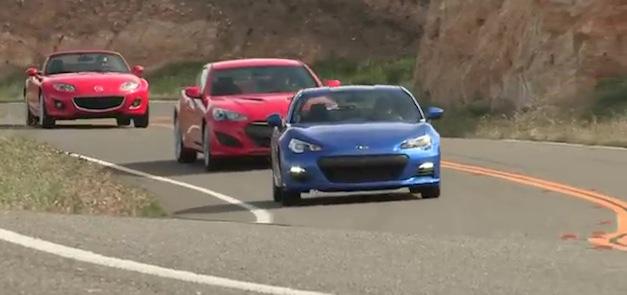 2013 Subaru BRZ vs Hyundai Genesis Coupe, Mazda Miata MX-5