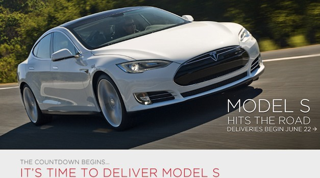 Tesla Model S electric sedan deliveries start June 22