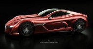 Alfa Romeo C12 GTS Concept Front Quarter View