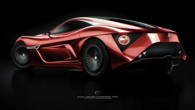 Alfa Romeo C12 GTS Concept Rear 7/8 Angle Shot