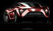 Alfa Romeo C12 GTS Concept Rear 3/4 View