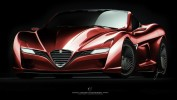 Alfa Romeo C12 GTS Concept Front 3/4 View
