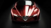 Alfa Romeo C12 GTS Concept Front Angle Shot