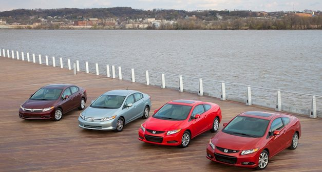 2012 Honda Civic Lineup