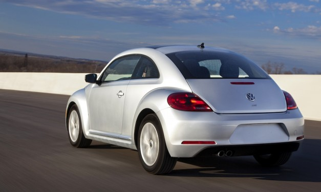 2013 Volkswagen Beetle TDI Diesel Rear 3/4 Action View