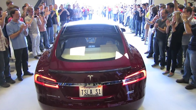 First 2012 Tesla Model S Delivery