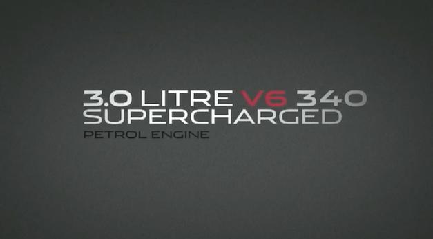 Jaguar Supercharged V6 teaser 2013
