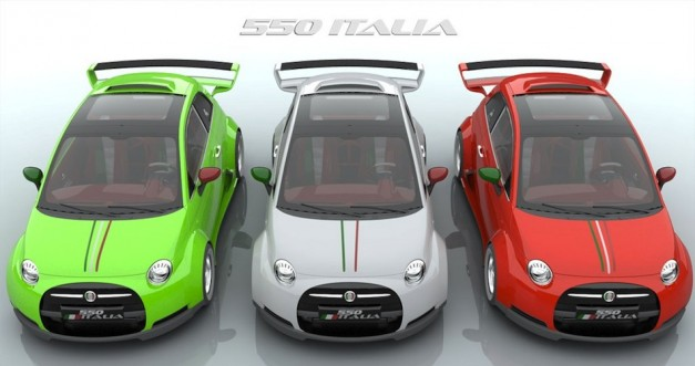 Lazzarini Design gives Fiat 500 a Ferrari heart transplant and more