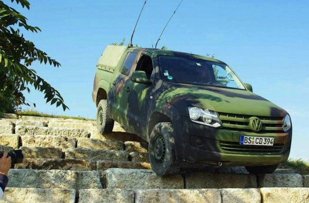 Rheinmetall Defense Volkswagen Amarok Descending Stairs