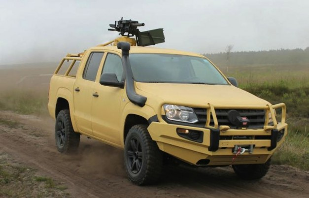 Rheinmetall Defense Volkswagen Amarok Front 3:4 Right