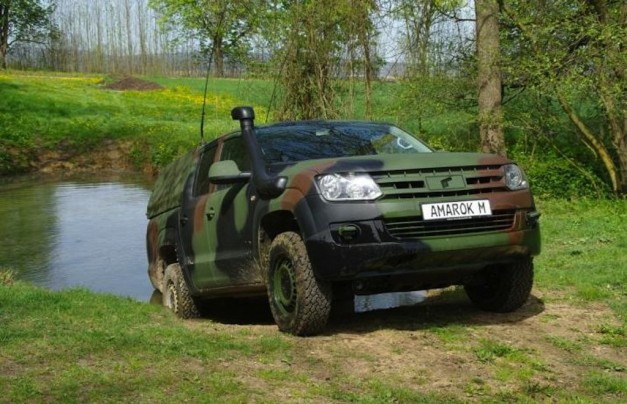Report: Volkswagen&#8217;s Amarok pickup gets outfitted for military spec