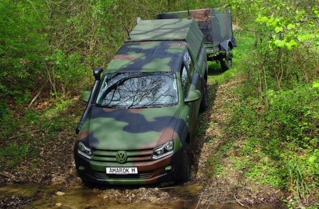 Rheinmetall Defense Volkswagen Amarok Traversing a Ditch