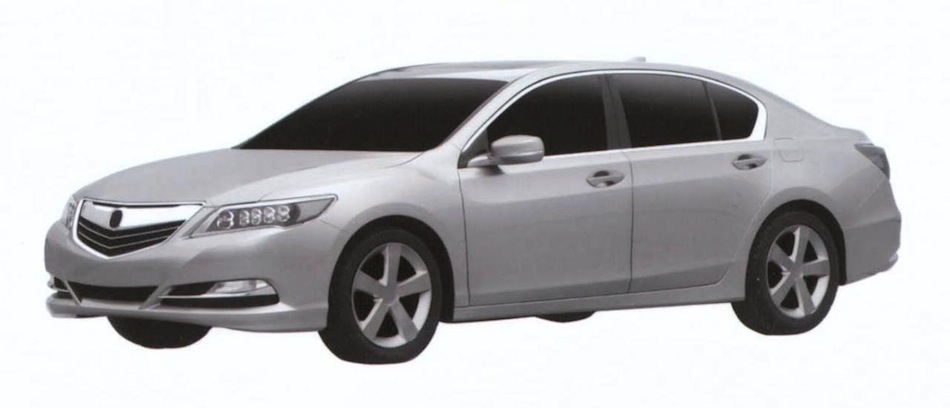 Acura RLX Patent Drawing Front 7/8 View