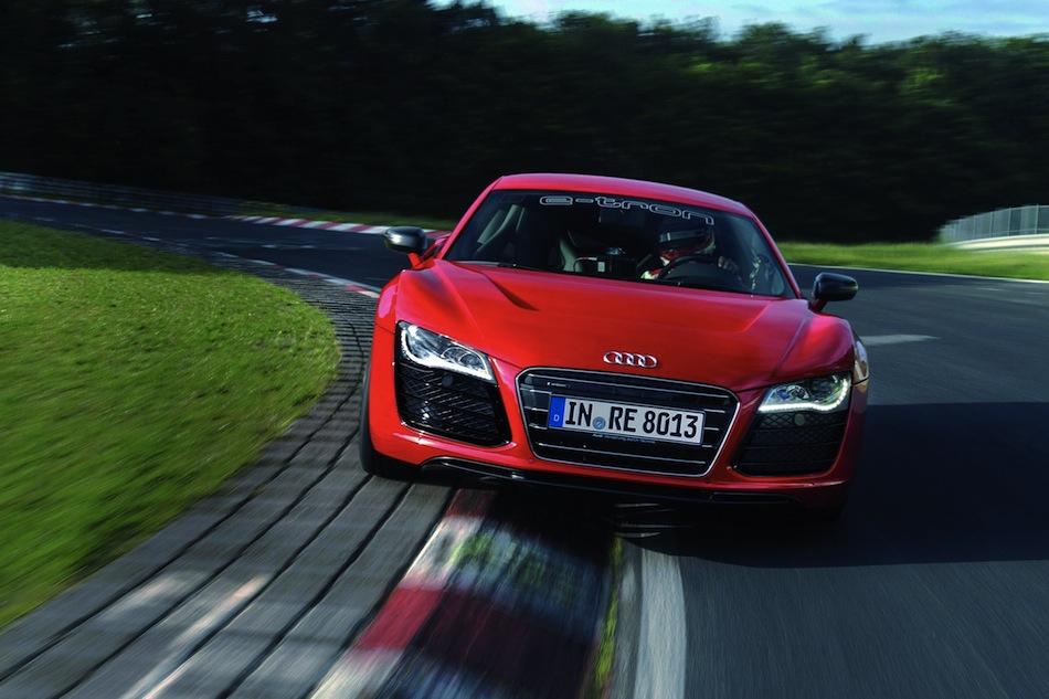 Audi R8 e-tron Nurburgring Lap Front View