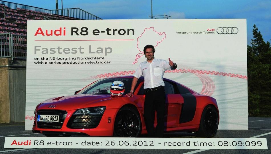 Audi R8 e-tron Nurburgring Lap With Driver