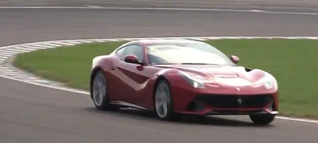 Video: Ferrari F12 Berlinetta drifts and drives on the Fiorano