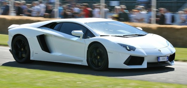 lamborghiniaventadorwhite Report: Lamborghini Aventador sedan, SuperVeloce to follow roadster