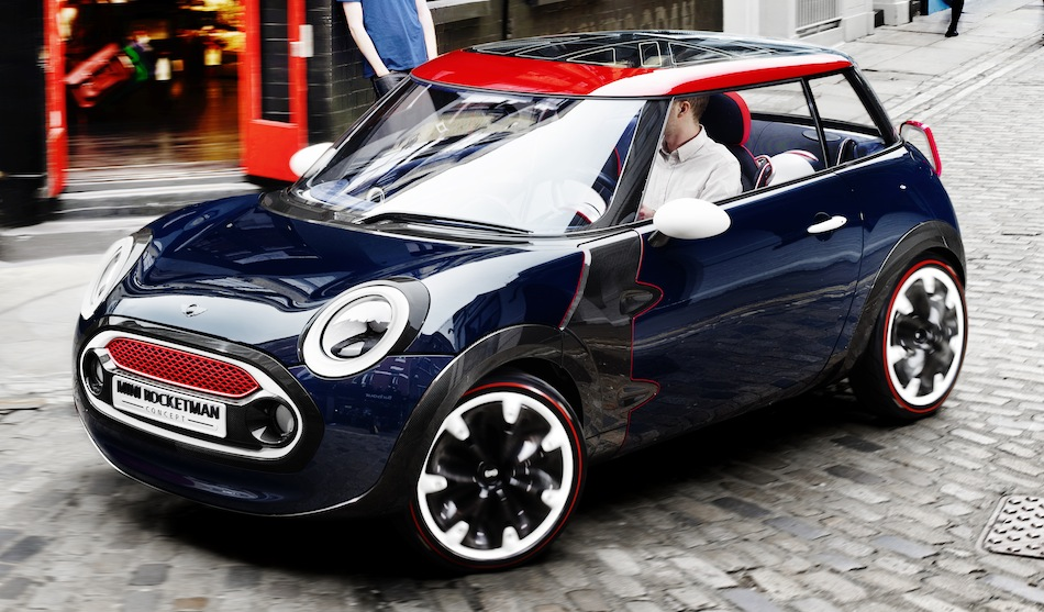 Mini Rocketman Britain Concept Front 3/4 View
