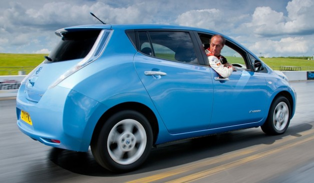 Nissan LEAF Goodwood Reverse in Action