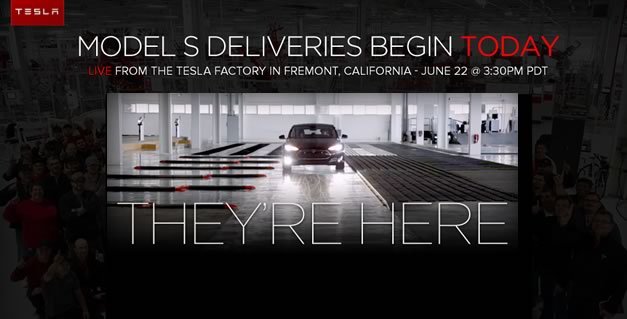 teslamodelsdelivery Video: Tesla to show delivery ceremony for new Model S electric sedan online