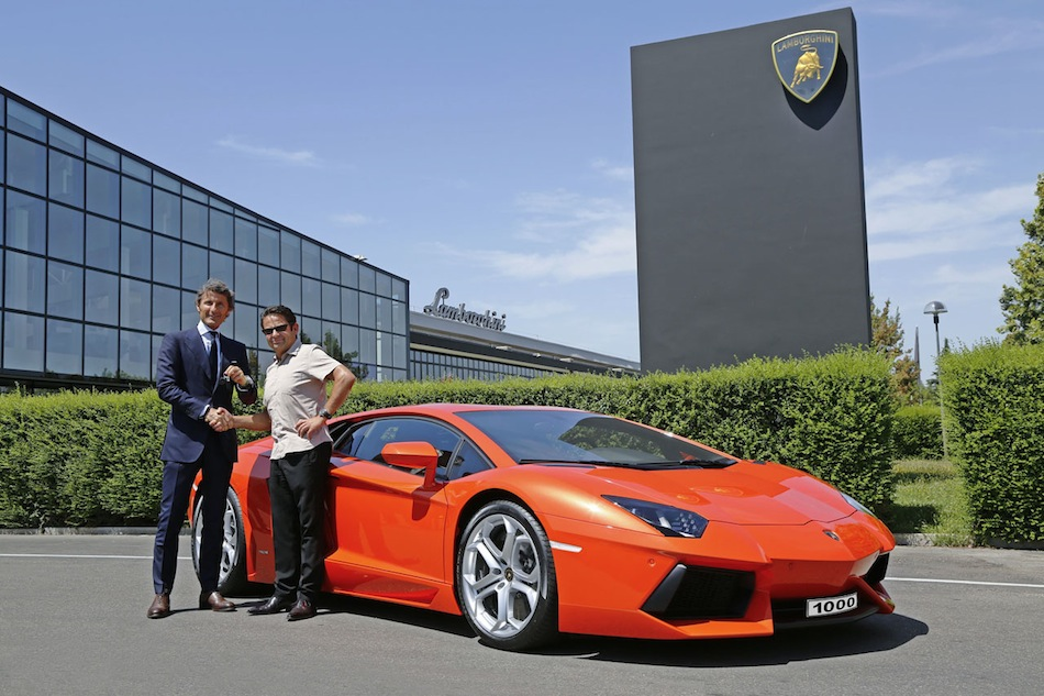 1000th Lamborghini Aventador LP700-4 Delivery