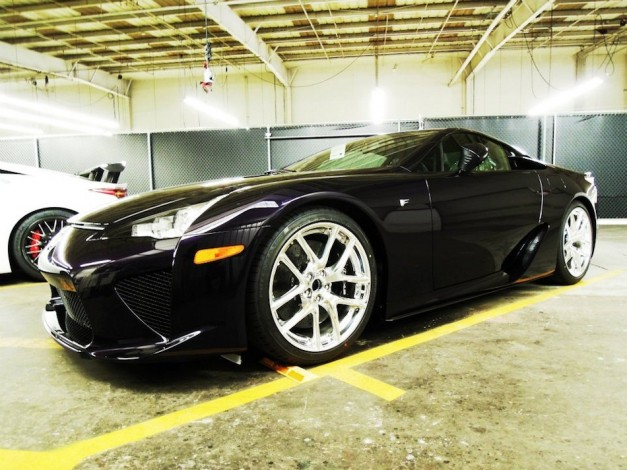 "Lexus debuts ""first and only Black Amethyst 2012 Lexus LF-A"" via Facebook"