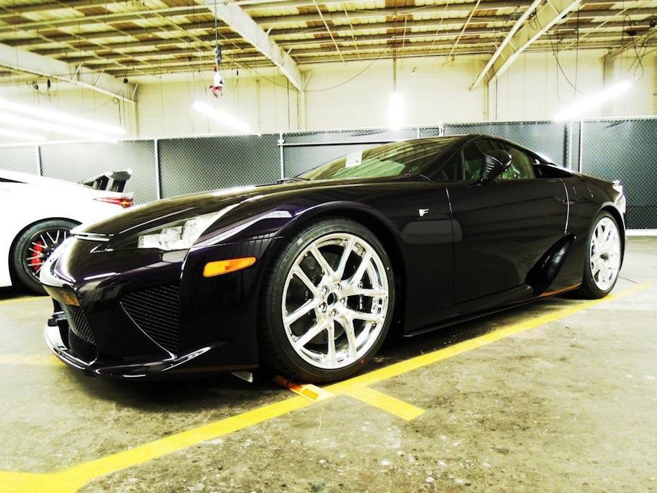 2012 Lexus LF-A Black Amethyst Front 3/4 Left