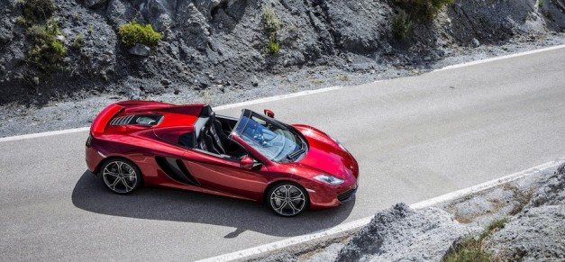 2013 McLaren MP4-12C Spider Right Side From Above